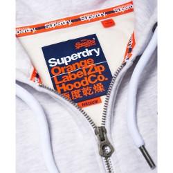 Sweat Superdry Orange label ZipHood