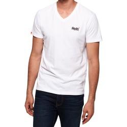 Tee Shirt Superdry Orange label Vntge Emb Vee