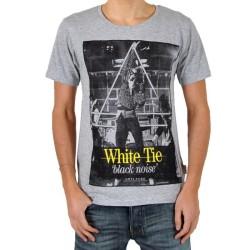 T-Shirt Eleven Paris White Tie Gris Chiné