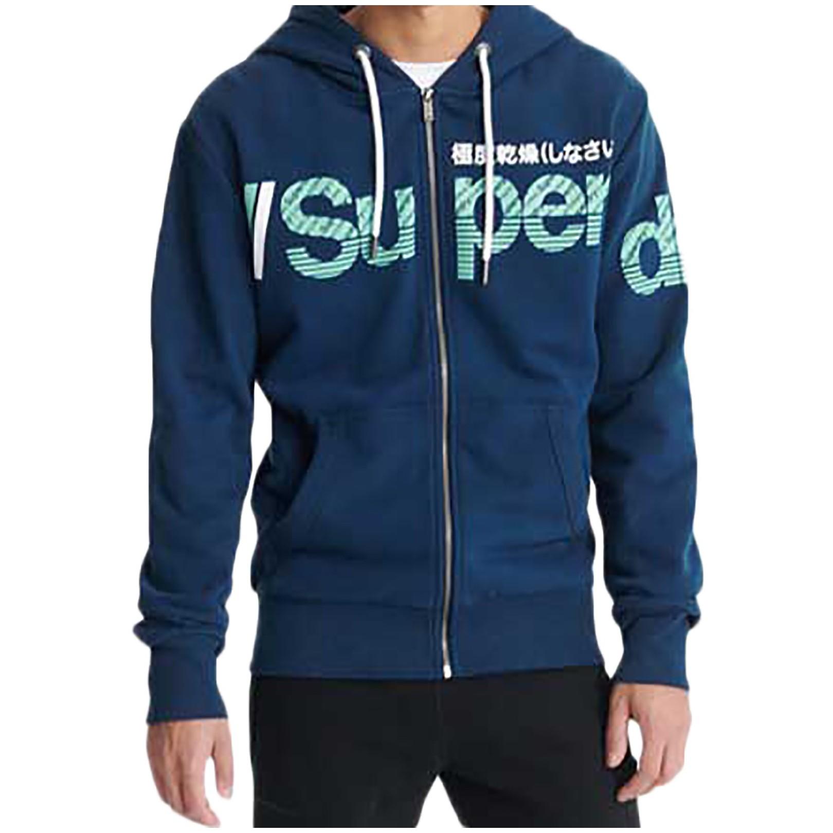 Sweat à Capuche SuperDry Core Split Logo Zip Hood