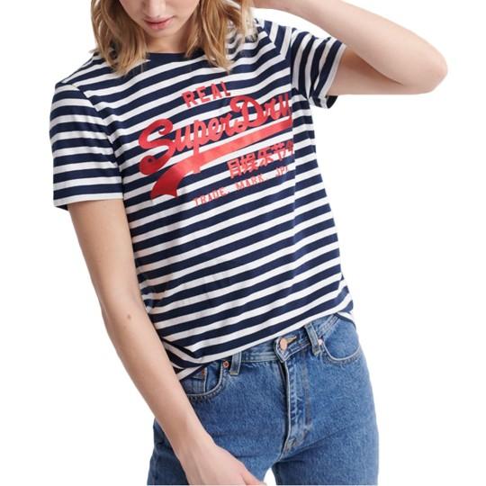 Tee-Shirt SuperDry VL Satin Stripe Entry