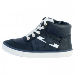 Basket Montante Cuir Enfant Clarks City Flake