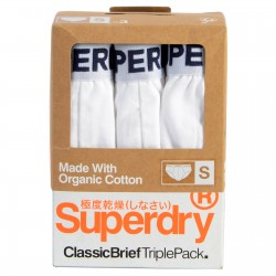 Pack de 3 Slips Coton SuperDry Triple Classic