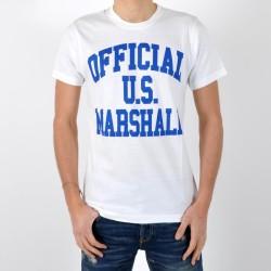 T-Shirt Us Marshall Official Blanc / Bleu Bic
