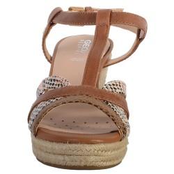 Sandales Compensés Cuir Geox Soleil