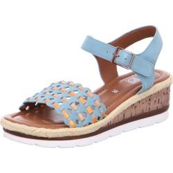 Sandale Compensée Cuir Ara Cadiz