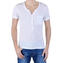 T-Shirt Eleven Paris L2 Basic Ts Pocket Blanc