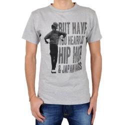 Tee Shirt Japan Rags Hip Hop Gris