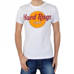 Tee Shirt Japan Rags Hard Rags Blanc