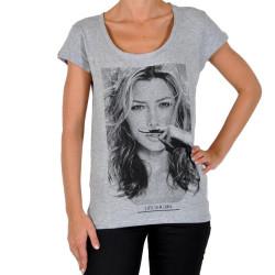 Tee Shirt Eleven Paris JB W Ts Jessica Biel Gris
