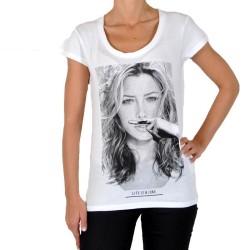 Tee Shirt Eleven Paris JB W Ts Jessica Biel Blanc
