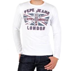 Tee Shirt Pepe Jeans Traversal PM501231 Blanc 800