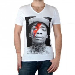 Tee Shirt Eleven Paris Kalifa M Wiz Khalifa Blanc
