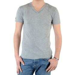 T-Shirt Eleven Paris Basic V SS Gris Chiné