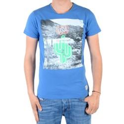 Tee Shirt Jack And Jones Stop Bleu Bright Cobalt