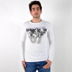 T-shirt Energie Long Dickey A00010 Blanc / Violet
