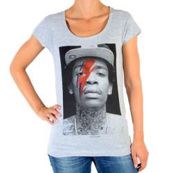 Tee Shirt Eleven Paris Kalifa W Wiz Khalifa Gris Chiné