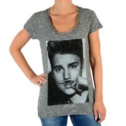 Tee Shirt Eleven Paris Bieber W Justin Bieber Gris Coton Vintage