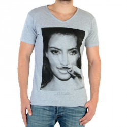 Tee Shirt Eleven Paris Kimmy M Kim Kardashian Gris Chiné