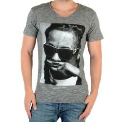 Tee Shirt Eleven Paris Lily M Lil Wayne Gris Coton Vintage