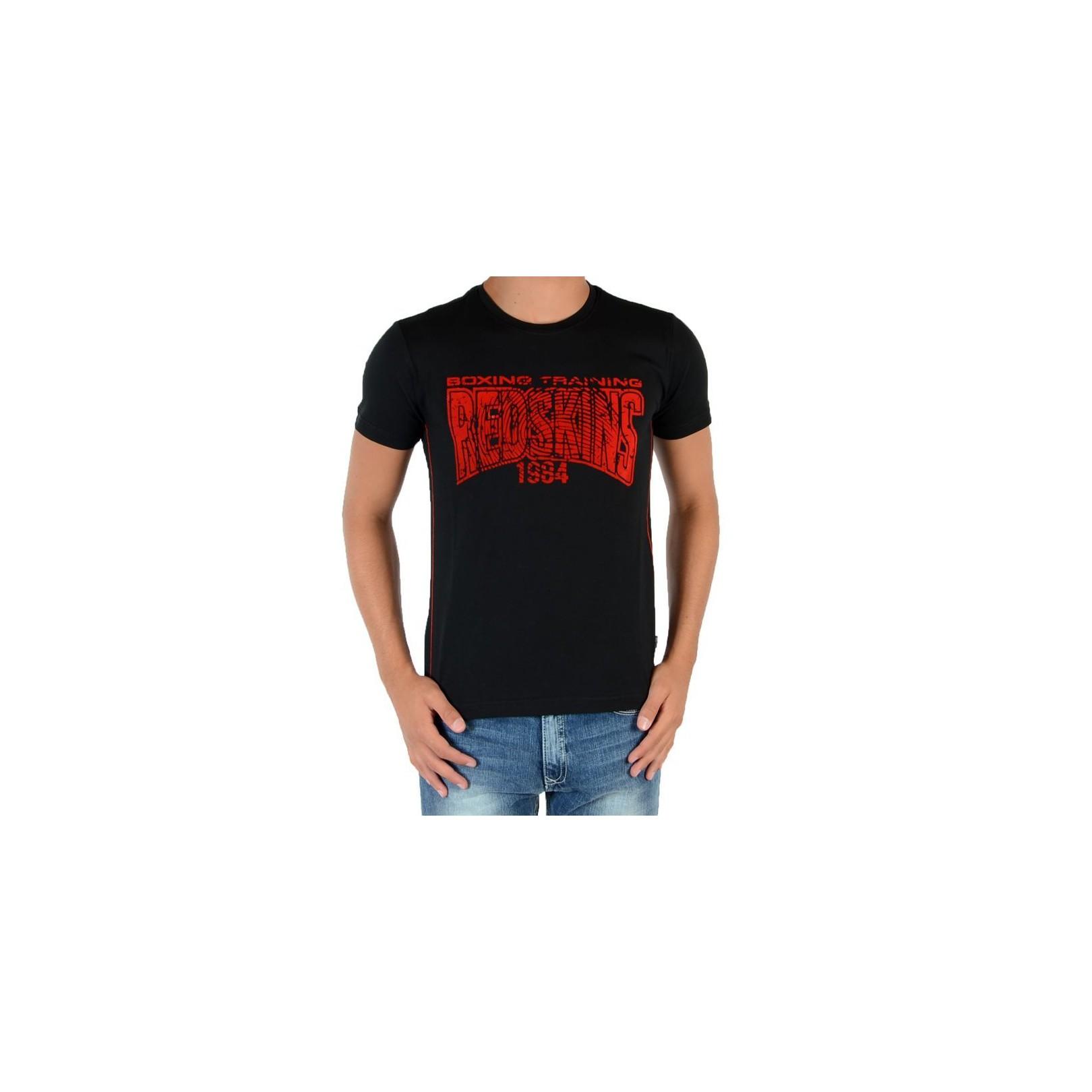 4188be64 Tee Shirt Redskins Junior Boston Noir / Rouge - Galerie-Chic
