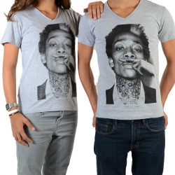 Tee Shirt Little Eleven Paris Wiz SS Mixte (Garçon / Fille) Wiz Khalifa Gris