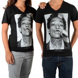 Tee Shirt Little Eleven Paris Wiz SS Mixte (Garçon / Fille) Wiz Khalifa Noir