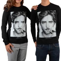 Tee Shirt Little Eleven paris Berty LS Mixte (Garçon / Fille) Robert Pattinson Noir