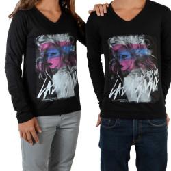 Tee Shirt Little Eleven Paris Gaga LS Mixte (Garçon / Fille) Lady Gaga Noir