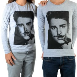 Tee Shirt Little Eleven Paris Bieber LS Mixte (Garçon / Fille) Justin Bieber Gris