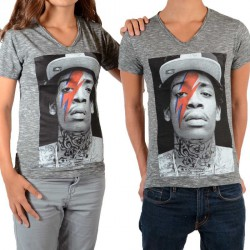 Tee Shirt Little Eleven Paris Wizka SS Wiz Khalifa Mixte (Garçon / Fille) Gris Vintage