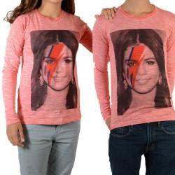 Tee Shirt Little Eleven Paris Selena LS Selena Gomez Mixte (Garçon / Fille) Rouge Georgia