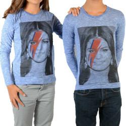Tee Shirt Little Eleven Paris Selena LS Selena Gomez Mixte (Garçon / Fille) Bleu