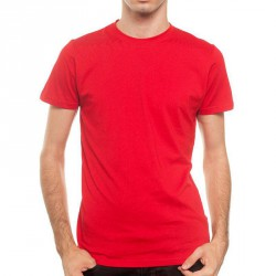 T-Shirt New OutWear M002010 Col Rond Rouge