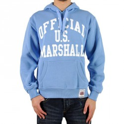 Sweat Capuche Us Marshall Bleu Ciel / Blanc