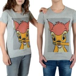 Tee Shirt Little Eleven Paris Bambi SS Mottled Mixte (Garçon / Fille) Bambi Gris