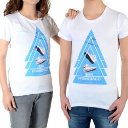 Tee Shirt Little Eleven Paris SF SS Mixte (garçon / fille) Blanc