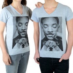 Tee Shirt Little Eleven Paris Smith SS Mixte (Garçon / Fille) Will Smith Gris