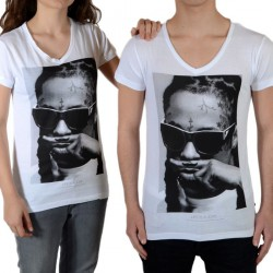 Tee Shirt Little Eleven Paris Lil SS Mixte (Garçon / Fille) Lil Wayne Blanc