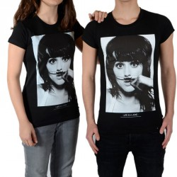 Tee Shirt Little Eleven Paris Perry SS Mixte (Garçon / Fille) Katy Perry Noir