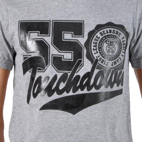 T-Shirt be and Be Touchdown 55 Gris / Noir