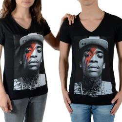 Tee Shirt Little Eleven Paris Wiz Bowie SS Mixte (garçon / fille) Wiz Khalifa Noir