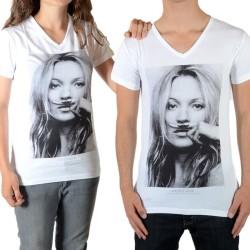Tee Shirt Little Eleven Paris Kate Moss SS Kate Moss Mixte (Garçon / Fille) Blanc