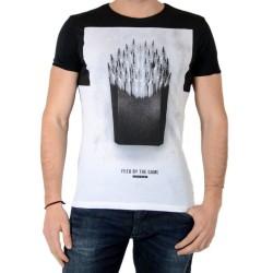 Tee Shirt Japan Rags Frenchfries Noir