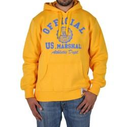 Sweat Capuche Us Marshall Athletic Dept Jaune / Bleu Ciel