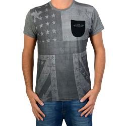Tee Shirt Deeluxe W15148 Union Medium Grey Mel