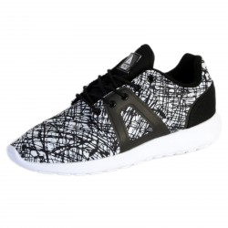 Basket Asfvlt Super Tech Noir Blanc Scratch