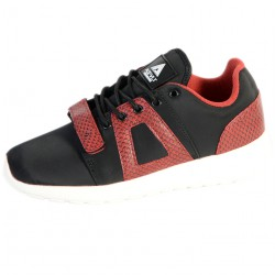 Basket Asfvlt Super V Noir Rouge