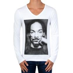 Tee Shirt Manches Longues Little Eleven Paris Snoop LS Blanc