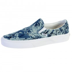 Basket Vans Classic Slip On ( Indigo Tropical ) Blu / Trwt